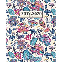 2019-2020 Diary: September - September with UK Holidays | A4 Week to View | Vintage Boho Floral (Rocket Studio Vintage Planners UK)