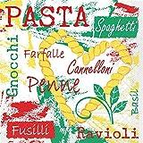 Sovie HOME Tissue Serviette Pasta | saugstark und reißfest | für italienisches Fler auf Ihrem Tisch | 20 Stück
