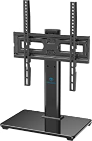 TV Staander voor 32-55 inch LCD LED OLED-plasma TV in hoogte verstelbare tv-staander met glazen voet en kabelbeheer, voor 40
