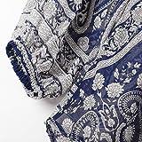 JUTOO Frauen V-Ausschnitt Langarm Chiffon Print Mode Bllouse T-Shirt Tank Tops(Blau,EU:46/CN:XL) für JUTOO Frauen V-Ausschnitt Langarm Chiffon Print Mode Bllouse T-Shirt Tank Tops(Blau,EU:46/CN:XL)