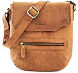 LEABAGS Seoul genuine buffalo leather messenger bag in vintage style - Brown
