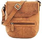 LEABAGS Seoul Citybag aus echtem Büffel-Leder im Vintage Look - Brown