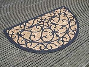 dekorative fu matte abtreter t rmatte halbrund kokos gummi landhaus. Black Bedroom Furniture Sets. Home Design Ideas