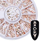 Born Pretty Rose Goldniet Nagel Studs Kreis Stern Rund Quadrat Dreieck Mixed DIY Telefon 3D Nagel-Dekoration