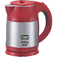 INALSA Electric Kettle WOW-1500W with 360° Cordless Base, Boil Dry Protection & Auto-Shut Off| Dual Finish Body…