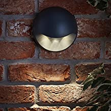 Biard Aplique Mural Kenn LED 3W IP54 Interiores y Exteriores Antracita Redondo con Luz Descendente –