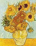 Vincent Van Gogh - Vaso Con Dodici Girasoli, 1888 Stampa D'Arte (50 x 40cm)