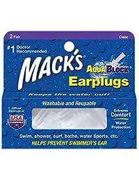 Mack's AV003 Aqua Block Bouchons d'oreilles Clear