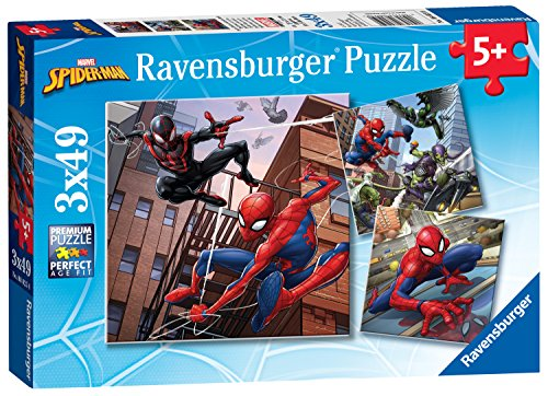 Ravensburger Marvel Spider-Man, 3x 49PC Jigsaw Puzzles