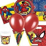 New Novità Spiderman Uomo Ragno Festa Finale Forniture Kit per 8