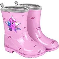 PERLETTI Stivali Pioggia da Bambina con Unicorno Rosa - Stivaletti Impermeabili per Bambine con Baby Unicorn e Glitter…