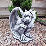 Steinfigur Gargoyle Torwächter Drache Teufel Steinguss 7 Kg Tierfigur Gartenfigur