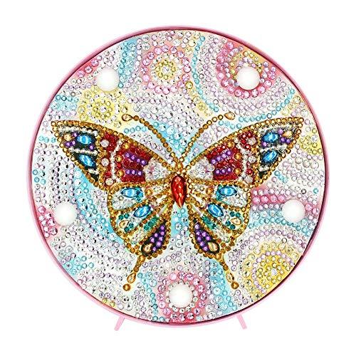 Everpert Diamond Painting Kit LED Dekoratives Licht Diamant Malerei Tier Home Schlafzimmer Nachtlicht Schreibtisch Dekoration Nachtlicht -
