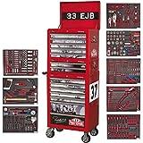 Paddy Hopkirk Sealey - Caja de herramientas de 14 cajones, edición especial–Color rojo (486 piezas)