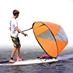 Fansport Kayak Sail Foldable Instant Popup Downwind Wind Sail for Sailboat Canoe