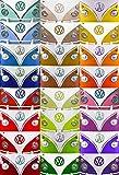 empireposter Volkswagen Bulli Pop-Art Foto-Tapete 2-teilig 232x158 cm