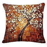 FeiliandaJJ Pillowcases 45x45cm,Dekoration Kissenbezug Blätter Drucken Zierkissenbezüge Wohnzimmer Sofa Bed Home Kissenhülle Super weich Pillows Cover Taille Wurf Kissenbezüge (I)