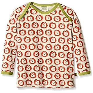 loud + proud Unisex Baby Sweatshirt Shirt Langarm, Gr. 116 (Herstellergröße: 110/116), Rot (Sunrise su)