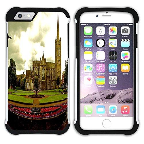 Graphic4You Dublin Irland Postkarte Aussicht Hart + Weiche Kratzfeste Hülle Case Schale Tasche Schutzhülle für Apple iPhone 6 Plus / 6S Plus Design #13
