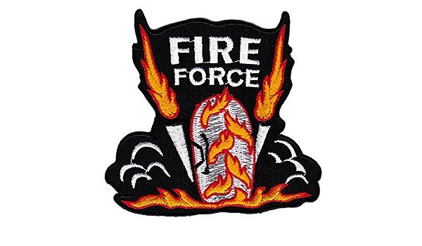 Biker Fire Force Burnout Flammen Aufnäher Bügelbild Aufbügler Iron On Patches Applikation Tattoo Auto