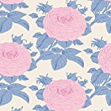 Tilda Sunkiss Oma 's Rose über Blau Fat Quarter