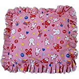 Krishnam New Born Baby Mustard Seeds(Rai) Pillow For Baby Head Shaping Teddy Print Children'S Neck Support Pillow, Soft And Plush Cotton Baby Pillow For Easy Washing Feeding & Nursing Baby Neck Pillow (0 To 12 Month's)