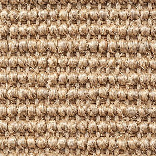 Teppichboden Auslegware | Sisal Naturfaser Schlinge | 400 cm Breite | beige natur | Meterware, verschiedene Größen | Größe: 1 Muster
