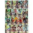 zhybac Cartes à Collectionner 60 Cartes Full GX, Flash Card, Cartes à collectionner,Cadeaux de Noël et Cadeaux d'anniversaire