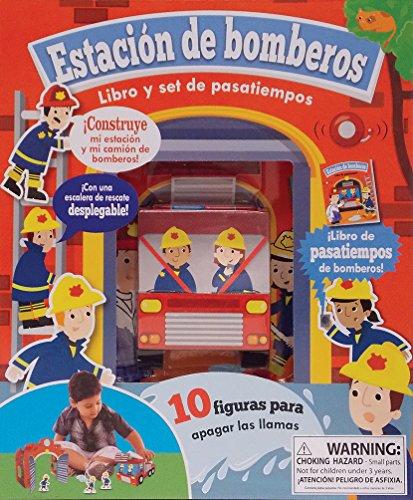 Box Estacion De Bomberos. Libro Y Set De Pasatiempos