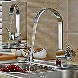 BigButterflyde Wasserfall Waschtisch Wasserhahn Küchenarmatur Wasserhahn Waschtischarmatur Armatur für Küche Badarmatur