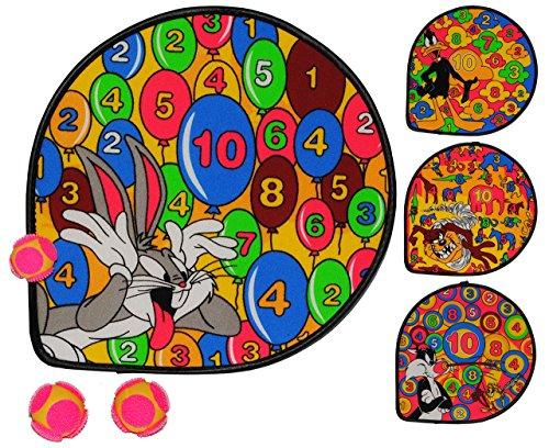 """3 Set´s: 3 Dartscheiben incl. 9 Klettbälle - Dart Spiel - """" Looney Tunes """" - Wurfspiel für Kinder & Erwachsene - Klett / Klettball - Ballspiel OHNE Spitze - drinnen und draußen Spiel Dartspiel"""