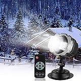 Ydq LED Projektionslampe, LED Schneeflocke Projektor Lichter Outdoor Mit Timing Fernbedienung Und Schneefall 3 Modi Ip65 Wasserdichter Für Außen Und Innen