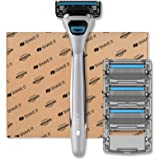 Shave It - Rasoio a 4 lame da uomo, con manico e 4 lame