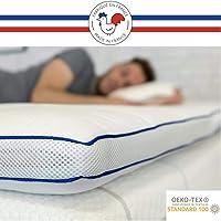 RESTBULLE Surmatelas de Confort Moelleux 80 x 200 cm - Qualité Hôtellerie - Production Française - Epaisseur Totale de 7…