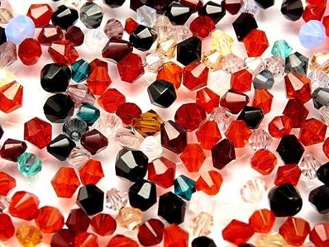 10gr Czech Fire Polished Beads, Bicone Mix Summer 3 -