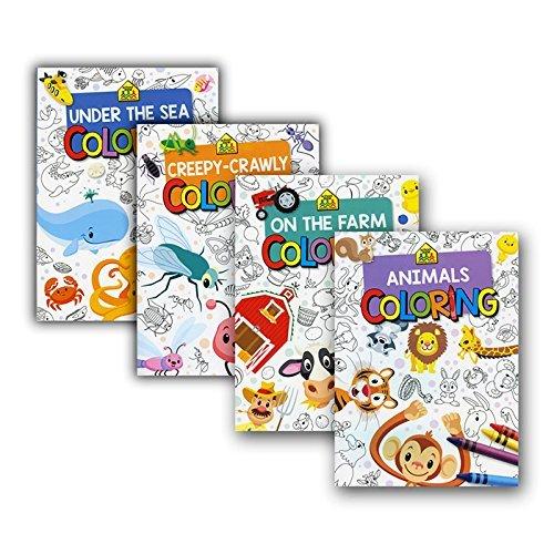 g8depot School Zone Animals Series Coloriage & ‿Cahiers d'activités