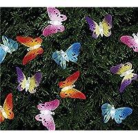 Multi Color, impermeabile, a forma di farfalla 12LED ad energia