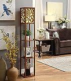 MENA HOME- Vereinfachtes Chinesisch Stehlampe Schlafzimmer Nachttischlampe Wohnzimmer Tee Tischlampe Sofa Lampe Creative Lighting (Farbe : Nussbaum)