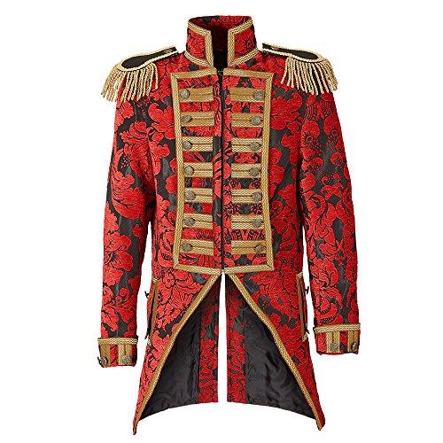 Zirkus Kostüm Direktor - Widmann 59364 - Herren Frack Jacquard Parade kostüm, XL