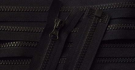 Reißverschluß Kunststoff teilbar für Jacken 59 cm schwarz