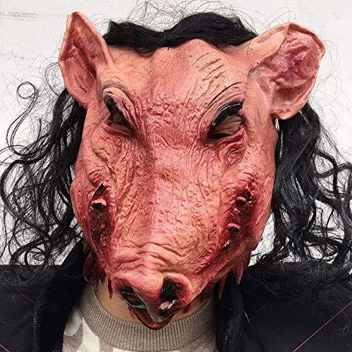 Xiao-masken Halloween Cosplay Gruseltier Prop Latex Party Unisex Scary Schwein Kopf Maske Haar Horror Maske Für Halloween Rollenspiel