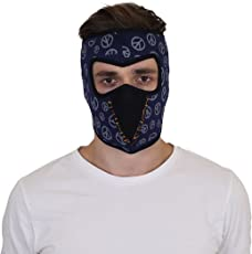 NR Ninja-1 Printed Mask, Face Bike Riding Mask ,Dust Protection Mask, Pollution Safety Mask With Velcro Closure(M0054)