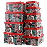 Markenlos Aufbewahrungsboxen/Schachteln im 10er Set mit Deckel Verschiedene Designs (Vespa)