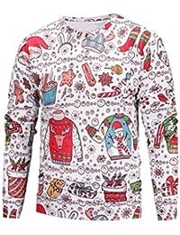VENMO Unisex Paare Liebhaber Christmas Print Sweatshirt Pulli Jacke  Winterjacke Lose Bluse Tops Shirt Hoodie Sweatjacke 8a2776fe65