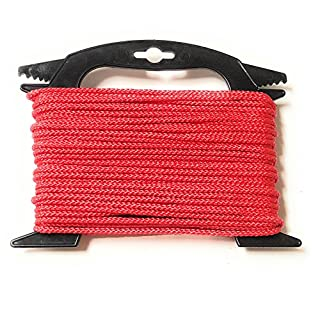 Viva Nature Polypropylen-Seil\ 4 mm 20m Flechtleine PP-Seil \ Tau-Werk Festmacher Schnur Universalseil Allzweckschnur (Rot)