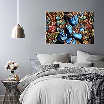 Feeby Frames, Cuadro en lienzo, Cuadro impresión, Cuadro decoración, Canvas de una pieza, ESTATUA BUDA, ZEN, INDIA, ORIENTE, MULTICOLOR 7