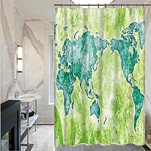 LISABOBO Retro Moldproof Mapa de impresión simple cortinas de ducha cortinas de ducha con cortina de ducha poliéster impermeable(150*180cm , 180*180cm) de secado rápido ( Color : 4 , Tamaño : 150*180 cm )