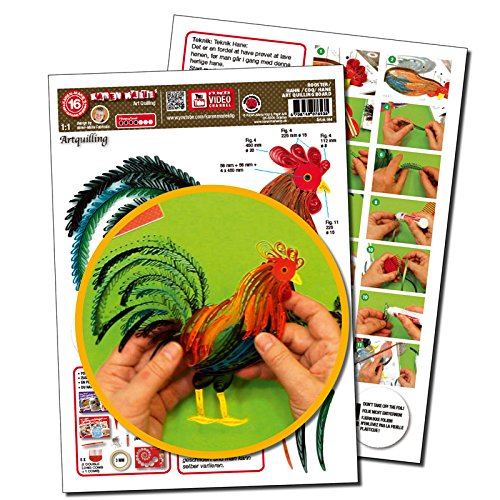 Karen Marie Klip Papirmuseets By A/S Quilling Template Hahn/Rooster Art Quilling (ohne Pappe) -