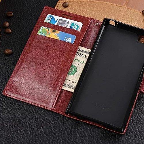 Wkae Case Cover Xiaomi 3 Fall solide Fall Geldbörsenart Farbmuster Magnet Design Flip Folio PU-Leder-Abdeckung Standup-Abdeckungsfall für Xiaomi 3 ( Color : Red , Size : Xiaomi 3 ) Black
