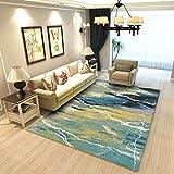 DULPLAY Indoor Bereich Teppich europäischen, Einfache teppiche Runner Sofa-Seite Kinder-Matte Pflegeleicht Wohnzimmer Schlafzimmer Boden Maschine waschbar-I 130x190cm(51x75inch)